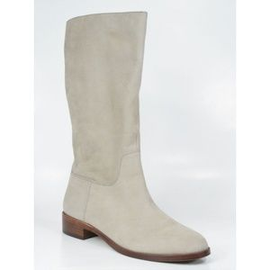 Via Spiga JULES Tall Suede PullOn Riding Boots NEW